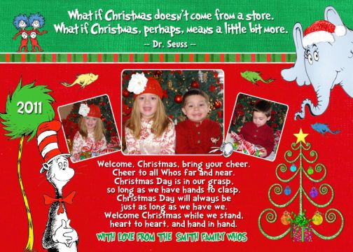 The Grinch Dr Seuss Holiday Christmas Cards