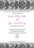 Black and White Damask Wedding Invitations