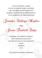 Red White Black Wedding Invitations