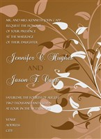 Brown Swirl Ivy Wedding Invitations