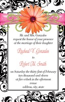 Gerber Daisy Wedding Invitations and Reply cards