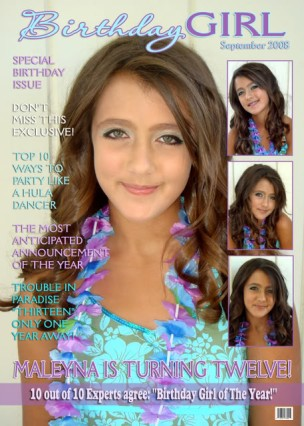 magazine cover 13th birthday invitation, Birthday invitations