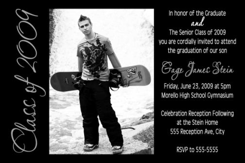 Class Of 2011 High School Or College Graduation Card Invitation