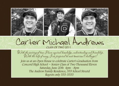 Elegant high school graduation invitation announcement filmwisefo