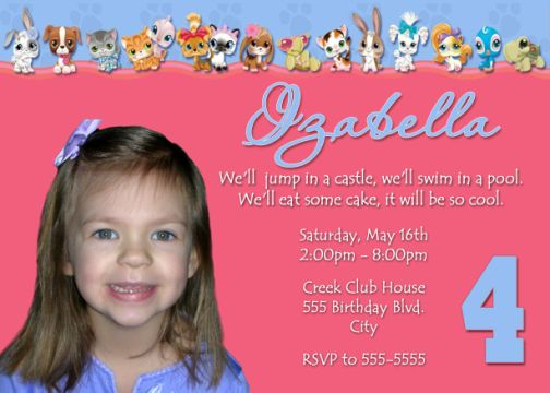 4th Birthday Invites 2000 Invitation Templates