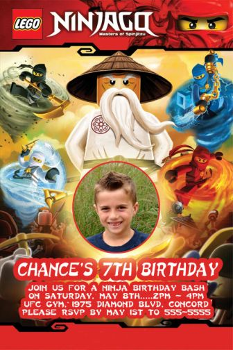 Personalized Ninjago Birthday Invitations