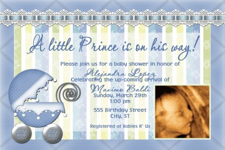 Little prince baby shower invitation filmwisefo