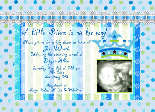 baby shower invitation baby shower invitations with scan photo, Baby shower invitation