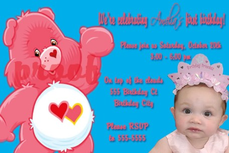Care bears birthday party invitations filmwisefo
