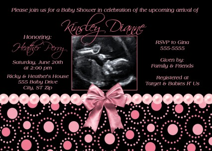 Black pink pearl baby shower invitation filmwisefo