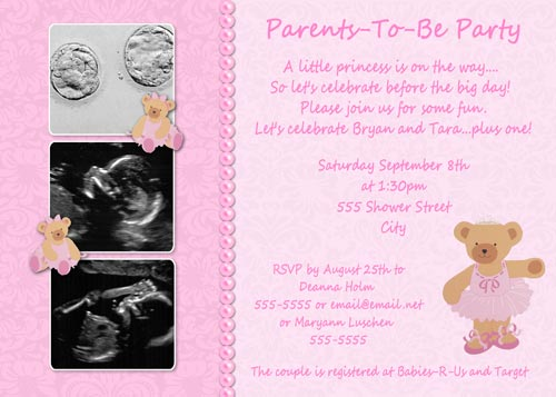 Twinkle toes ballerina bear baby shower invitations filmwisefo Choice Image
