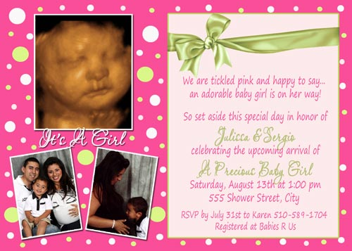 Gshower 94 Hot Pink Lime Green Baby Shower Invitations
