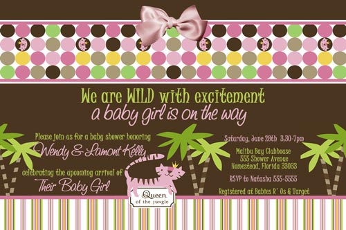 Queen Of The Jungle Baby Shower Invitation No Photo