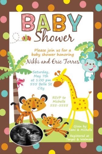 Elegant Fisher Price Rainforest Baby Shower Invitation Match The Coordinating Party  Supplies.