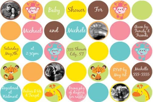 Great Fisher Price Rainforest Baby Shower Ultrasound Invitations Match The  Coordinating Party Supplies.
