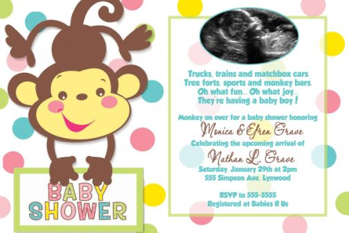 Fisher Price Rainforest Boy Baby Shower Invitations Match The