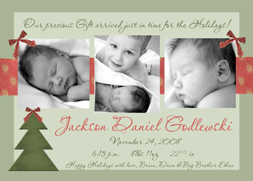 Oh Christmas Tree Holiday Baby Announcement – Holiday Baby Announcements