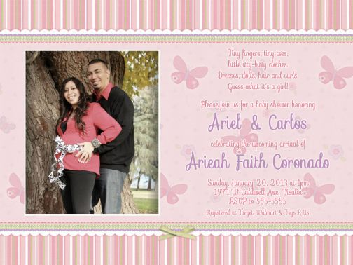 Girl Carters Baby Shower Invitations, Thank You Cards, Party ...
