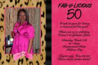 Hot Pink & Leopard 50th Birthday Invitation