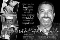 Masculine Black and White 50th Birthday Invitation
