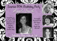 Lilac Swirl 50th Birthday Invitation