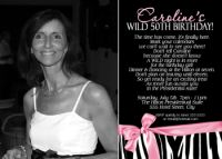 Zebra 50th Birthday Invitation