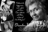 Black and White 50th Birthday Invitation