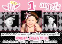 Lil' Angel 1st Birthday Party Invitations with Photo