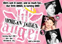 Lil' Angel 1st Birthday Invitations Party Supplies
