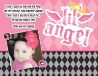 Lil' Angel Thank You Card or 1st Birthday Invitations