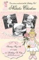 Ballerina Ballet Photo Birthday Invitations