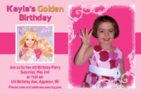 Hot Light Pink Barbie Birthday Invitation