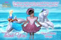 Barbie Island Princess Thank You Card