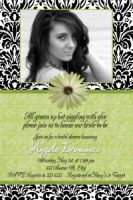 Damask & Lime Bridal Shower Invitation
