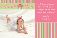 Cupcake Thank You Card Birthday Invitations