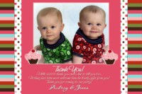 Made to Match Gymboree Cupcake Thank You Card