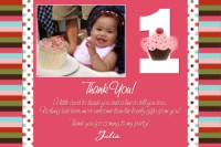 Gymboree Cupcake 1st Birthday Invitation Made to Match Gymboree Lines