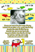 Dr Seuss One Two New Fish Baby Shower Invitation
