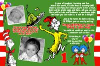 Dr Seuss Green Eggs & Ham Birthday Invitation