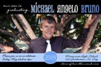 Blue Black Photo Graduation Card Invitation