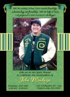 High School Senior Cap Graduation Card Invitation