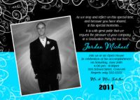Modern High School Graduation Card Invitation Announcement