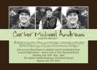 Elegant High School Graduation Invitation Announcement