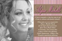 Pink Brown Neopolitan High School Graduation Invitation Card