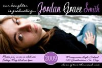 Purple Black Graduation Invitation
