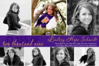 Collage High School Senior Graduation Card Announcement Invitation