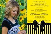 Yellow Black Graduation Invitation Card