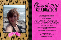 Hot Pink and Leopard Print Graduation Card