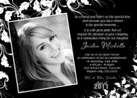Black White Ivy High School Graduation Card Invitation
