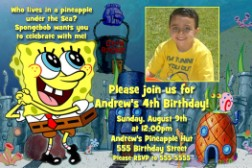 Spongebob Pineapple Hut Birthday Invitation